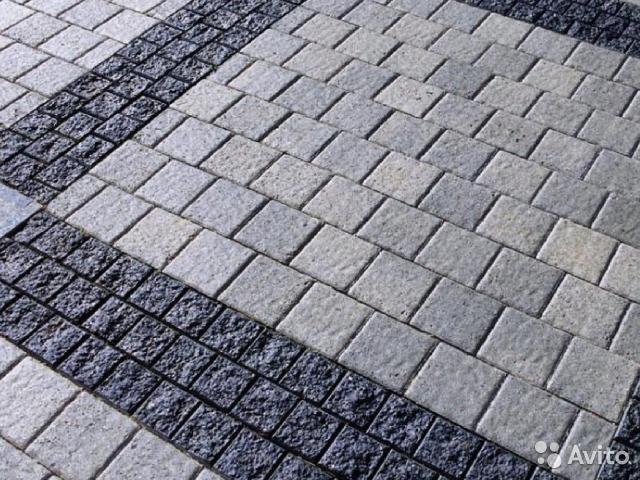 Тротуарная плитка и гранитная брусчатка