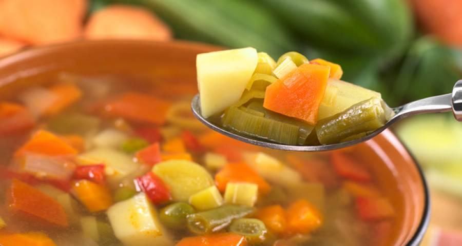 Картофельный суп со стручковой фасолью