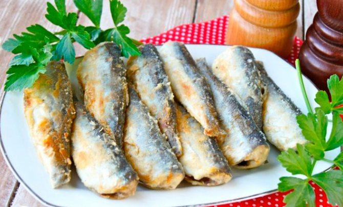 Салака в маринаде из цитрусов