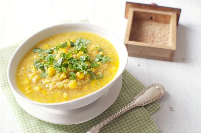 Суп из сладкой кукурузы