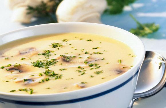 Суп сырный с грибами